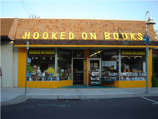 Hooked On Books Store Front Wildwood New Jersey USA